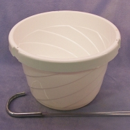 6 inch basket with hanger